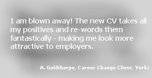 career change CV testimonial